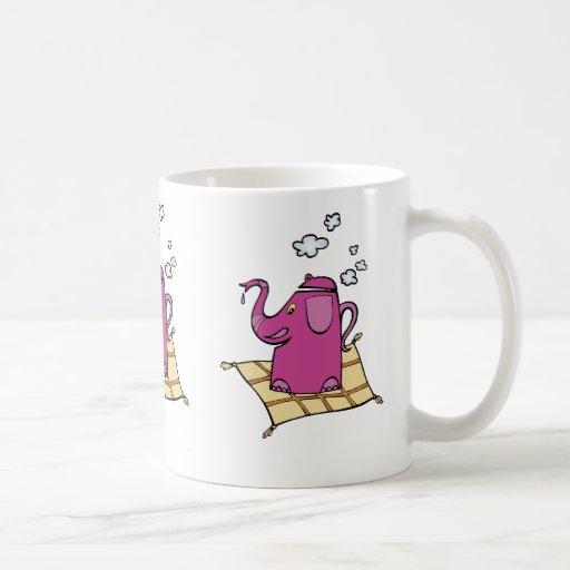 Flying Elephant Tea Kettle Coffee Mugs