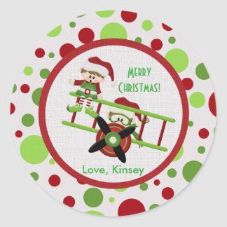 Flying Elves Christmas Stickers