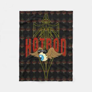 Flying Eyeball Hot Rod Fleece Blanket