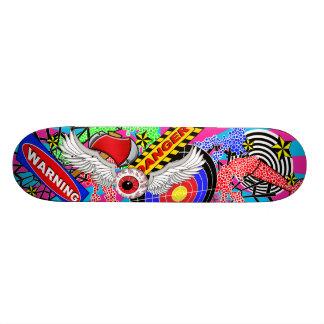 Flying eyeball skateboard