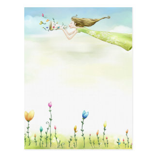flying fairy postcard