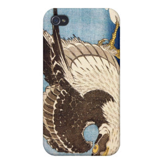 Flying Falcon, Hokusai Cover For iPhone 4