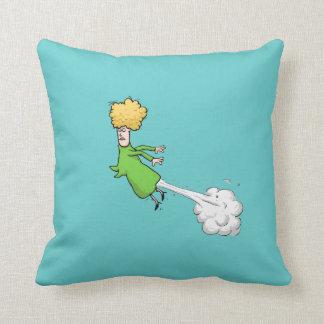 Flying Farting Lady Cushion
