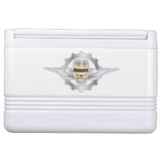Flying Fedora Skull Dieselpunk Igloo 12 Can Cooler Igloo Cooler