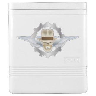 Flying Fedora Skull Dieselpunk Igloo Cooler