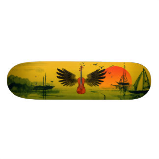 Flying Fiddle 21.3 Cm Mini Skateboard Deck