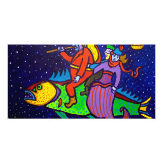 Flying Fish by Piliero Picture Card
