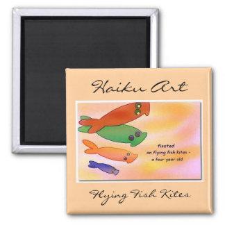 Flying Fish Kites Haiku Art Magnet