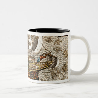 Flying Fish Meet in the Torrid Zone Two-Tone Coffee Mug