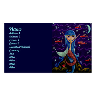 Flying Fish Mermaid and the Moon Pack Of Standard Business Cards
