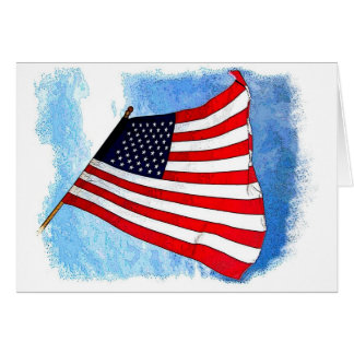 Flying Flag Greeting Cards