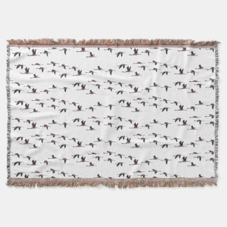 Flying Flamingos Throw Blanket (choose colour)