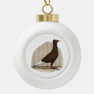 Flying Flight Red Self Ceramic Ball Christmas Ornament