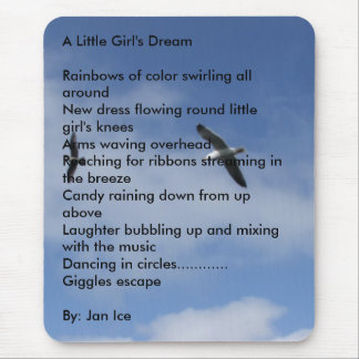 Flying Free, A Little Girl's DreamRainbows of c... Mouse Pad