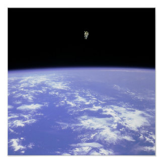 Flying Free in Space Poster