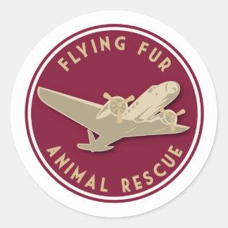 Flying Fur - Round Airline logo Classic Round Sticker