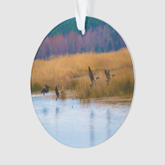 Flying Geese Christmas Ornament
