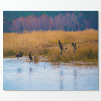 Flying Geese Wrapping Paper