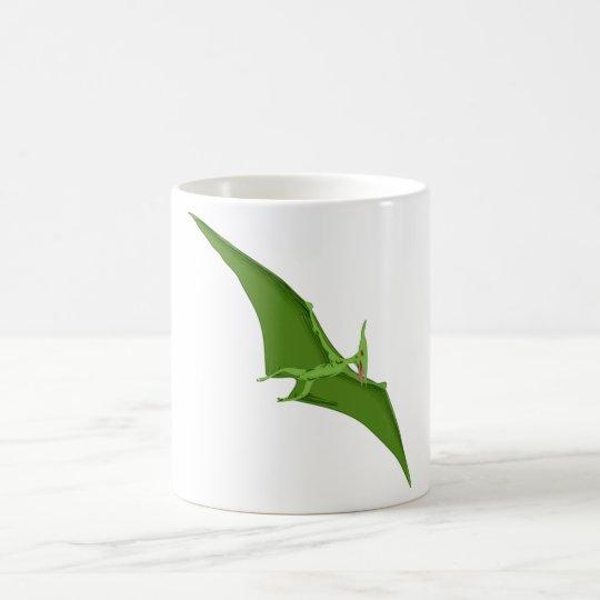 Flying Green Pterodactyl Coffee Mug