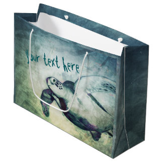 Flying Green Sea Turtle | Custom Gift Bags