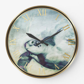 Flying Green Sea Turtle | Wall Clocks