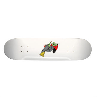 Flying Green Witch in Red Shoes Custom Skate Board