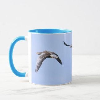 Flying Greylag Geese Mug