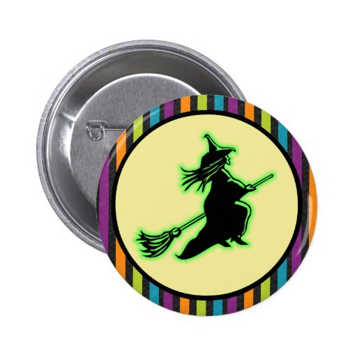 Flying Halloween Witch Pins