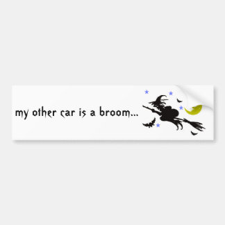 Flying Halloween Witch Bumper Sticker