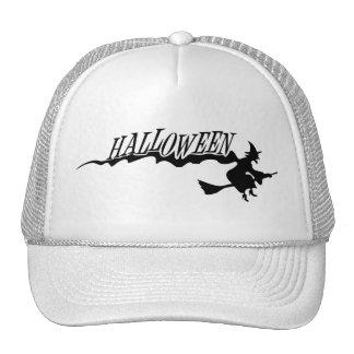 Flying Halloween Witch Halloween Vector Trucker Hats