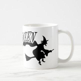 Flying Halloween Witch Halloween Vector Mug