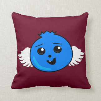 Flying Happy Blueberry Throw Pillow