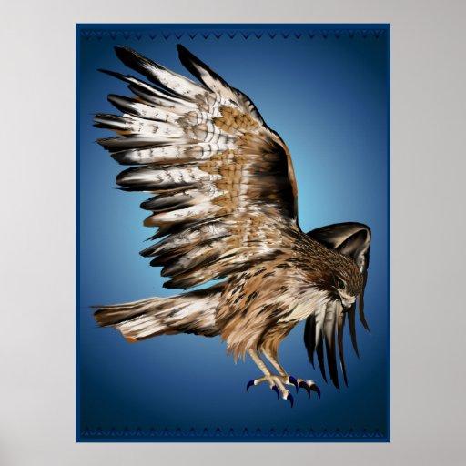 Flying Hawk Print