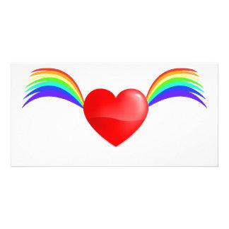 Flying Heart Card Custom Photo Card