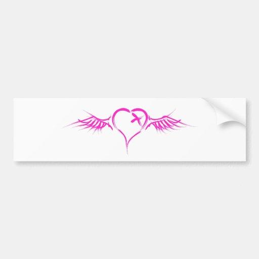 Flying Heart - Emo Alternative Grunge Rock Punk Car Bumper Sticker