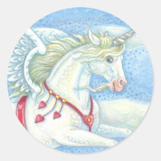 Flying Hearts Unicorn PEGASUS STICKER Sheet