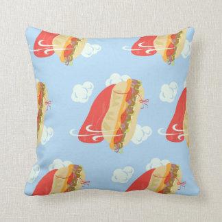 Flying Hero Sandwich Fun Cushion