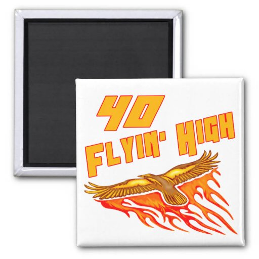 Flying High 40th Birthday Gifts Refrigerator Magnets