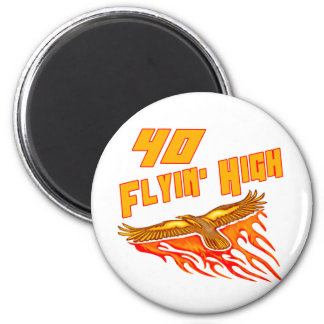 Flying High 40th Birthday Gifts Fridge Magnets