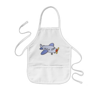 Flying High Airplane Kids Apron