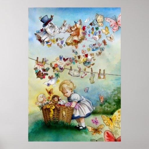 Flying High Fantasy watercolor Illustration Print