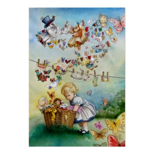 Flying High Fantasy watercolor Illustration Print