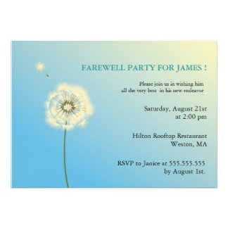 Fare Well Party Invitation
