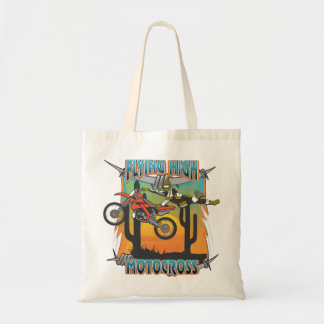 Flying High Motocross Budget Tote Bag