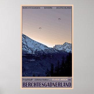 Flying High over Berchtesgaden Poster