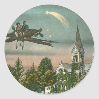 Flying High Over Old Chapel Classic Round Sticker