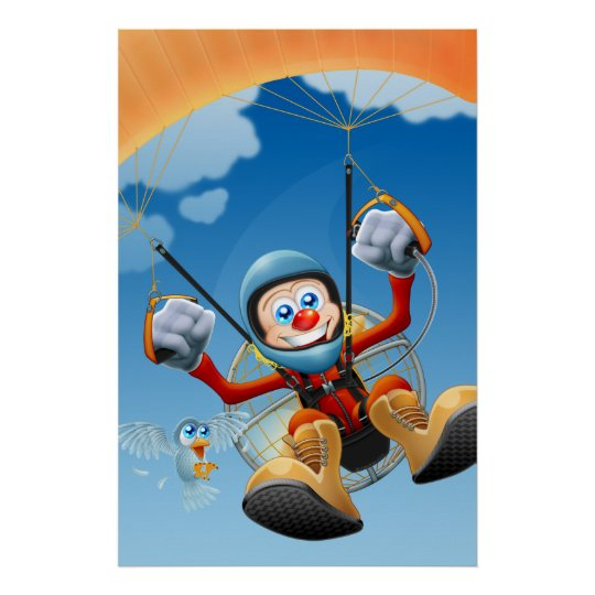 Flying High Paramotor Poster