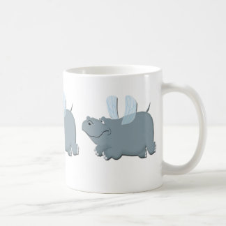 Flying Hippo Coffee Mug