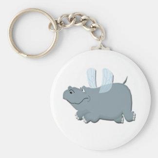 Flying Hippo Key Ring