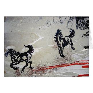 """Flying Horses"" Card"